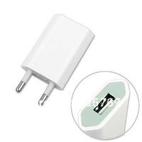 1000pcs/lot Newest universal 1A flat EU AC home wall USB based charger adapter for iphone 4g 4s ipod mobile phone mp3/4 by DHL