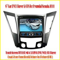 8 inch 2-DIN digital touch screen TFT LCD display CAR DVD PLAYER WITH GPS FOR HYUNDAI SONATA I40 I45