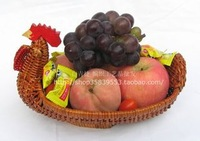 Chicken  shape Rattan serving  fruit food  fruit basket  home storage trays