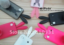 For Samsung Galaxy S T959 I9000 I9008 I9001 Rabbit cartoon TPU case,with rabbit tail ,Free shipping 1pcs/lot(China (Mainland))