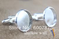 50pcs/lot french cufflinks blank,  cufflink base, metal cufflinks, 12mm/14mm/16mm/18/20mm for choose
