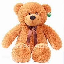 EMS Free shipping Teddy Bear Dark Brown Giant Plush Toy 120cm/ 3.94 Ft