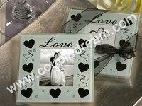 Free Shipping + Wholesale Promotion Price, 10sets/lot(set of 2pcs) LOVE Glass Coaster Set