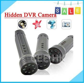 Free SHIPPING-HOT NEW,1/4 Inch CMOS, Resoltion 1280x1024,LED Flashlight Hidden Camera DVR SG-015