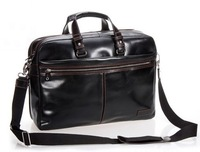 "FREE SHIPPING-On Sale High-Class Men's Black 100% Genuine Leather Briefcase Shoulder Bag Messenger 14""&15""Laptop Bag Travel Bag"