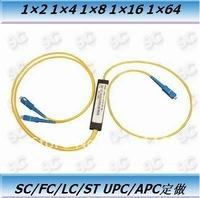 Wholesale of 1x2 PLC singlemode Splitter, customized of SC/APC, FC,ST,LC,SC/PC connector