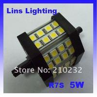 LED Flood Lights Light source R7S 5W 5050 SMD 3000K 4500K 6000K AC85-265V  Black