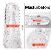 Cxs1430 Wholesale - male masturbation pocket pussy, transparent flashlight , Sex toys for men