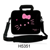 "New Cute Hello Kitty Design 17""17.3""17.4"" Shoulder Laptop Sleeve Bag Notebook Case Neoprene Computer Cover Pouch,Free Shipping"