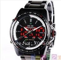 Luxury Analog LED Digital Date Steel Sport men's watch, fashion sport watch,free shipping