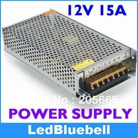 Wholesale 6pcs/lot LED Drivers 12V 15A 180W LED transformer Power Adapter for led strip Light  [LedBluebell ]