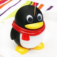 2014 Wholesale cutie penguins  automatic Toothpick box promotion gifts 10*7.5*7.5CM Freeshipping