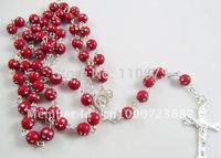 Free shipping   Cheap Jewelry Fashion Plastic Catholic Rosary   100pcs/lot