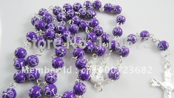 Free shipping   Cheap Jewelry Fashion Plastic Catholic Rosary   100pcs/lot