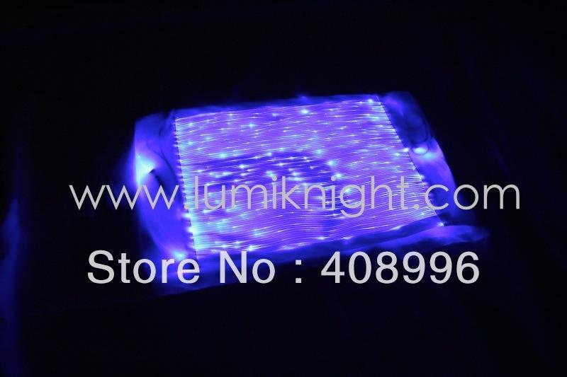 Free shipping Optical fiber fabric luminous napkin/ tablecloth/Fashionable household decoration(China (Mainland))