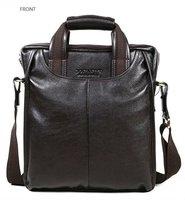 FREE SHIP-Hot New style Fashion Men's Brown 100% Real Leather Shoulder Bag messenger bag Leisure Easy Bag B10022