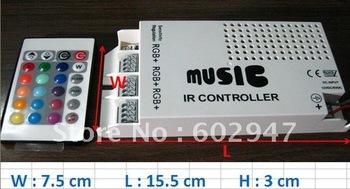 120W Sound Sensitive 10A Music IR Controller 12V for LED RGB Strip Light Remote DHL Free ship