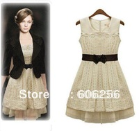 FREE SHIPPING 2012 New summer dress women's ladies lace skirt S- XL