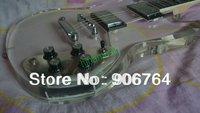 Brand new fiber glass body guitar SG Model transparent body no color electric guitar fee shipping humbucker
