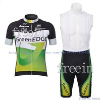 2012 New Arrival Green EDGE Short Sleeve Cycling Jerseys and BIB Shorts Set/Cycling Wear