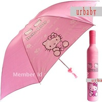 New Cute hello kitty Sprinkle bottle umbrella antiultraviolet parasol retail wholesale for girl  N0:2