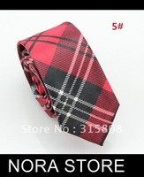 Free shipping wholesale Dress tie Multi Color Crisscross check Tie  men's korean necktie WIDTH:5CM