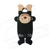 Cartoon animals cable organizer/ cable winder/ wire organizer/ earphone MP3 accessory-black monkey10pcs/lot free shipping
