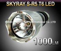 Free EMS,DHL,20pcs/lot, XP-G R5 Flashlight 5 Mode 1000 Lumens CREE XM-L XML T6 LED Flashlight