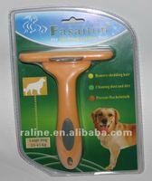 "pet shop,Fasaiton Deluxe Pet deshedding tools Large 4"" Yellow  Free shipping"