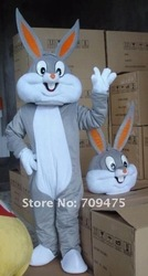 Bugs Bunny Costumes Mascot Adult Cartoon Mascot Performance Cute Cartoon Rabbit character Mascot Free shpping by EMS(China (Mainland))