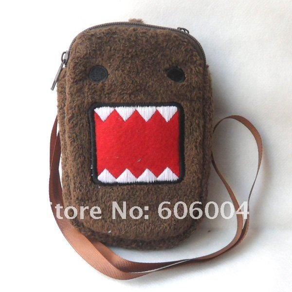 Free Shipping 20/Lot New Domo Kun PLUSH Bag Case for Cell Phone MP3 Wholesale