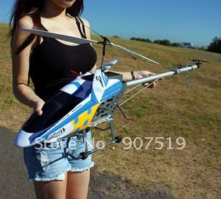 Biggest size 125cm 3.5ch remote control helicopter rc helicopter 2 Speed Model Metal frame Gyro and LED lights FXD A68690 1pcs(China (Mainland))