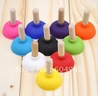 Cute and Lovely Creative iPhone support stick, toilet pumping suck disc, mobile phone bracket holder hardcover many colors