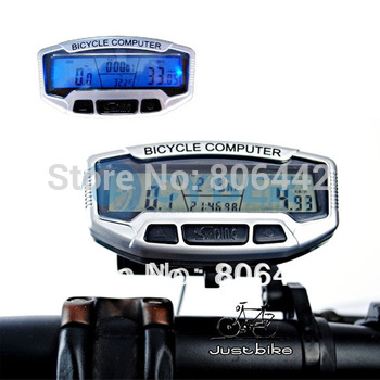 Digital LCD Backlight Bicycle Computer Odometer Bike Meter Speedometer SD558A Clock Stopwatch