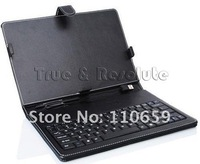 "FREE SHIPPING Tablet Pc Keyboard Leather Case for 7"" ePAD MID PDA Stylus USB Cable"