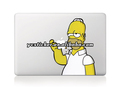 Free shipping Simpson Decal Sticker for MacBook Decals Stickers for Apple Vinyl Decal Protective Laptop Sticker