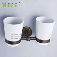 Xiduoli free shipping Bathroom Accessories Antique Double Cup Holder XDL-1245 Luxury Home Deco 2014 new