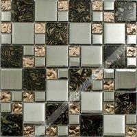 [Colorful Mosaic] Glass Mosaic Tile for Kitchen Backsplash