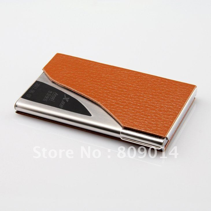 stylish Diamond Patent Leather Business card holder, Bank card holder with Personalized engraving logo / FREE shipping(China (Mainland))
