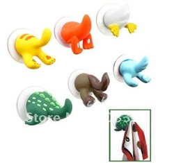 50x animal tail plastic wall hook hanger suction hooks Free Shipping(China (Mainland))
