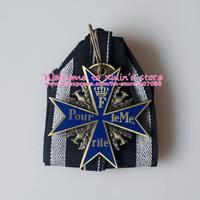 BM0004 Five Piececs The Famous Blue Max Free Shipping blue-enameled Maltese Cross Pour le Merite Deutschland Blauer Max