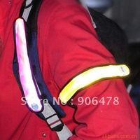 Free shipping Hot Sale 50PCS LED Reflective Arm/Leg Bands reflective armbands safety armbands