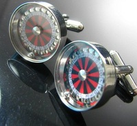 Roulette Lucky Moral Cufflinks Men's Shirt Cuff Jewelry Gift