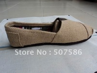 Hot selling free shipping! men's / lady canvas shoes mix ORDER top quality Natural Burlap Classics Canvas shoes  wholesale