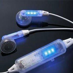 wholesale hot selling led glow earphone earplug new fashion mini mp3 mp4 glow earphone headphone  free shipping