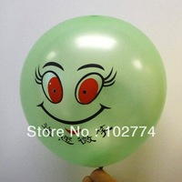 balloons    smile face balloons 100pc/lot balloons with   muliti colour for wholesale by free shipping