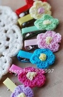 free cute fashion candy baby girls hair clip bow barrette/hairpin/hairgrip/Mini hand hook lace clip