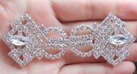 Clear Rhinestone Frog, Pearl Buckle For Silk Wedding Invitations------BU073