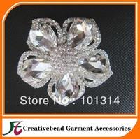 Free Shipping+ Fashion shinny rhinestone flower wedding brooch+100pcs