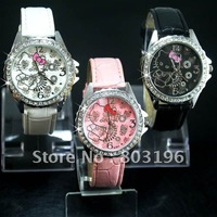 Free Shipping 5 versions Support Mix version Hello Kitty wrist watch 100PCS/Lot